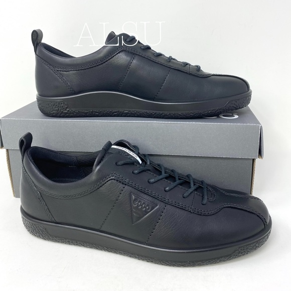 Ecco Soft Womens Sneakers Leather Black